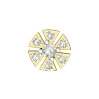 Beautiful Abhu Yellow Gold Diamond Nosepin