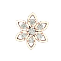 Beautiful Baamini Rose Gold Diamond Nosepin