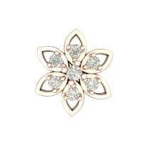 Beautiful Baamini Rose Gold Diamond Nosepin