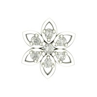 Balini White Gold Diamond Nosepin