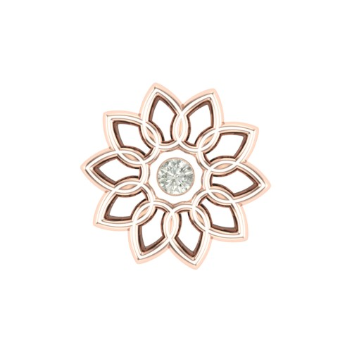 Pretty Paakhi Rose Gold Diamond Nosepin