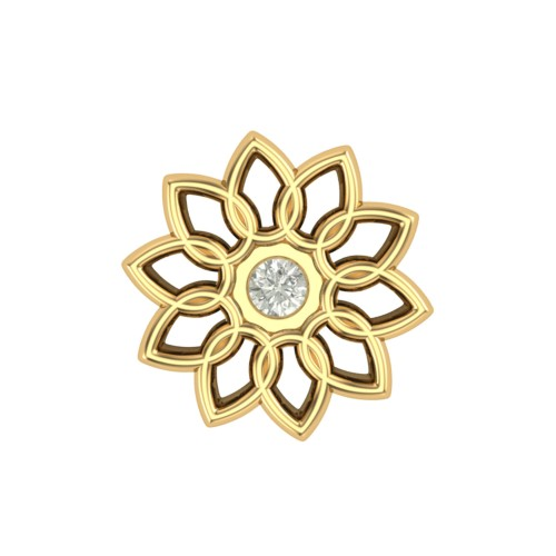 Pretty Piyushi Yellow Gold Diamond Nosepin