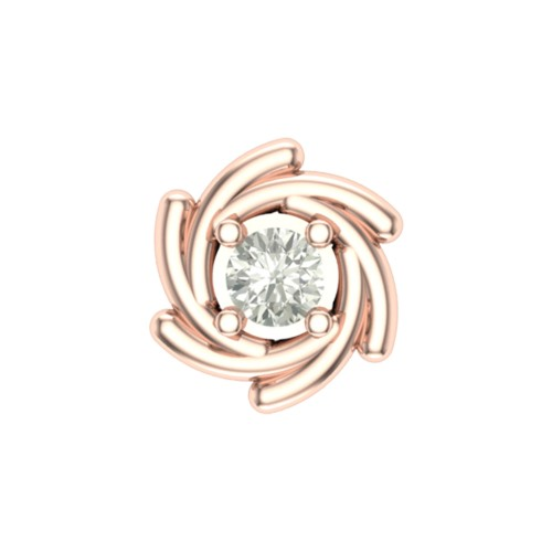 Pleasing Anumati Rose Gold Diamond Nosepin