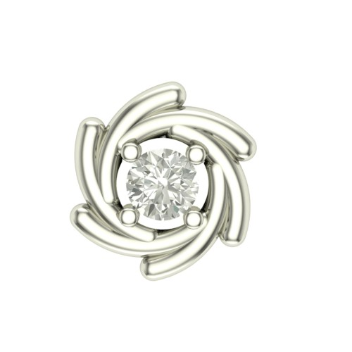 Pleasing Anurati White Gold Diamond Nosepin