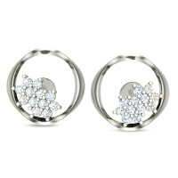 Eileena White Gold Stud Earrings