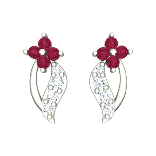 Eena White Gold Stud Earrings