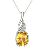 The Mitchell Diamond and Citrine Gold Pendant