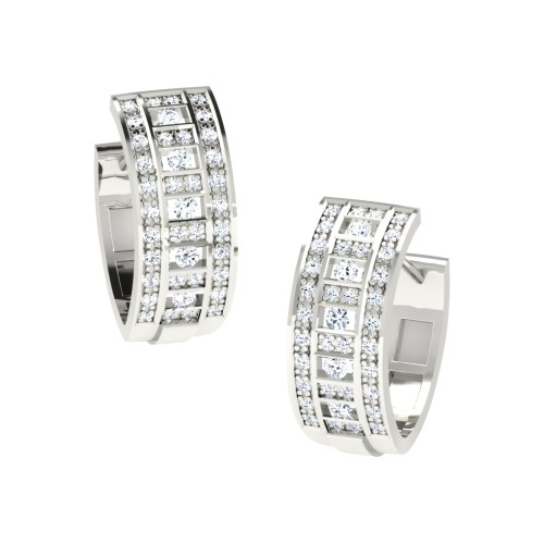 Ashni White Gold Diamond Earrings