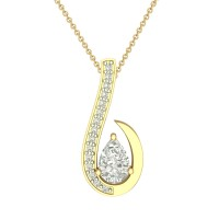 Yamini 18k Simulated Diamond Pendant
