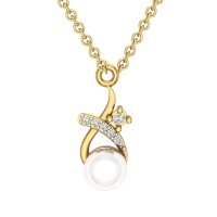 Deevya 18kt Gold & Diamond Pendant