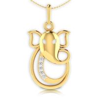Jai Ganesh Diamond Pendant