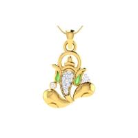 Gajanand Diamond Pendant