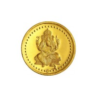 10 Gram Ganeshaya Gold Coin