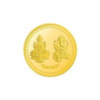 5 Gram Om Laxmi Ganeshaya Gold Coin