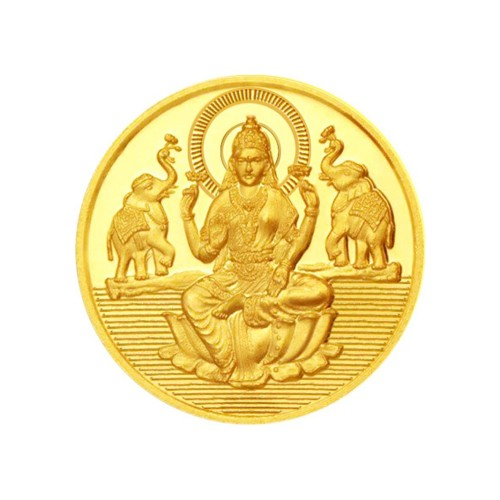 Jai Shree Laxmi 1 Gram Gold Coin