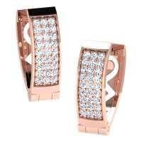 Harshika  Rose Gold  Diamond Earrings
