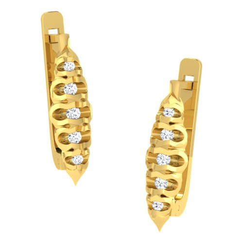Hemkanta Gold Diamond Earrings