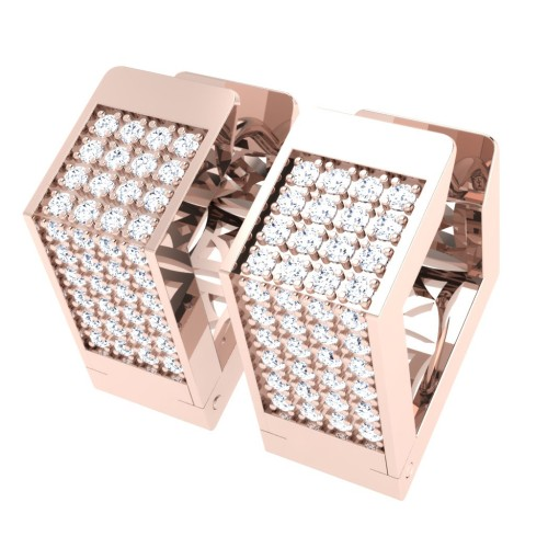 Amla Rose Gold  Diamond Earrings
