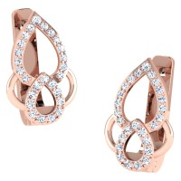 Kirti Rose Gold  Diamond Earrings