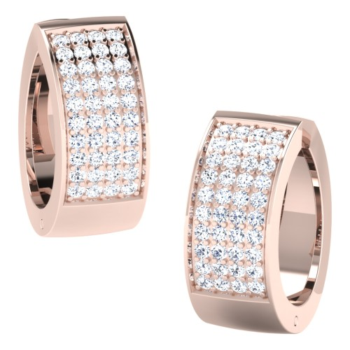 Amoli Rose Gold  Diamond Earrings