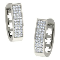 Advika White Gold  Diamond Earrings