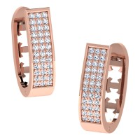 Advika Rose Gold  Diamond Earrings