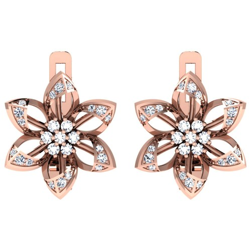 Charvi  Rose Gold  Diamond Earrings