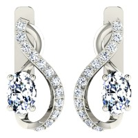 Dishita White Gold  Diamond Earrings