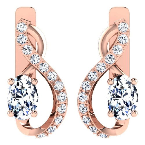 Dishita Rose Gold  Diamond Earrings