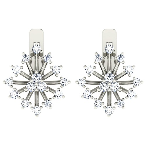 Kamika White Gold  Diamond Earrings
