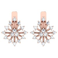 Kamika Rose Gold  Diamond Earrings