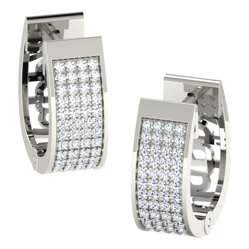 Kamna White Gold  Diamond Earrings