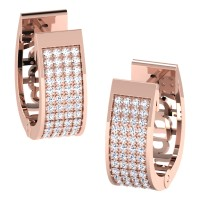 Kamna Rose Gold  Diamond Earrings