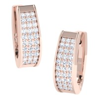 Mishti  Rose Gold  Diamond Earrings