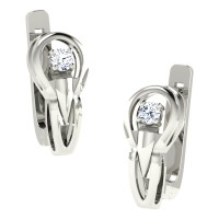 Dakshi  White Gold  Diamond Earrings