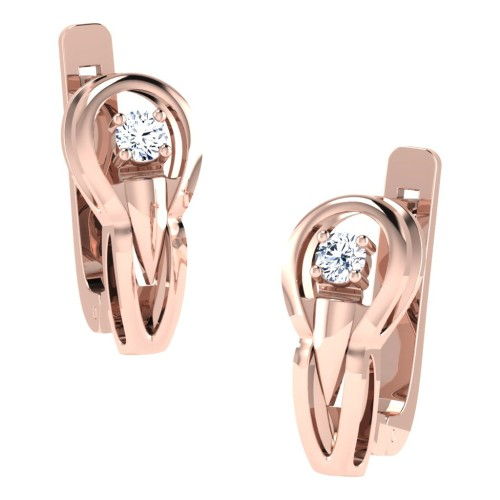 Dakshi  Rose Gold  Diamond Earrings
