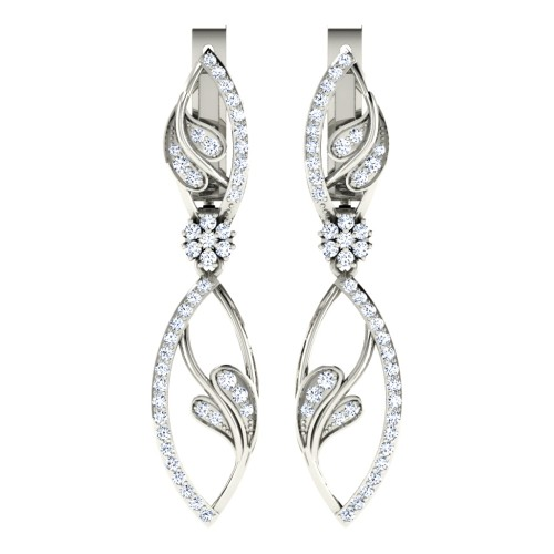 Darshini  White Gold  Diamond Earrings