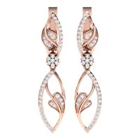 Darshini Rose Gold  Diamond Earrings