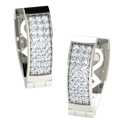 Harshika  White Gold  Diamond Earrings