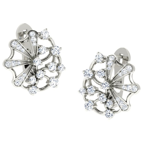 Anaya White Gold  Earrings