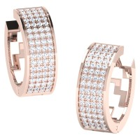 Amber Rose Gold  Diamond Earrings