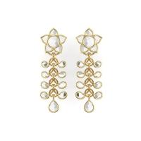 Paandu kundan Gold Earrings