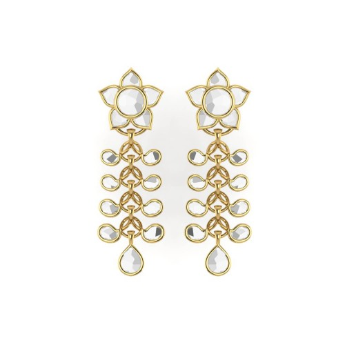 Paandu kundan Gold Earrings