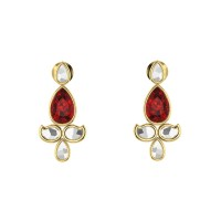 Paavan kundan Gold Earrings