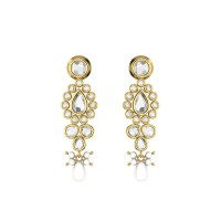 Pacata Kundan Gold Earrings