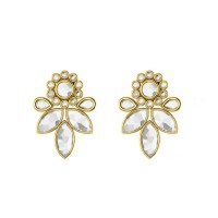 Pachaimuthu Kundan Gold Earrings