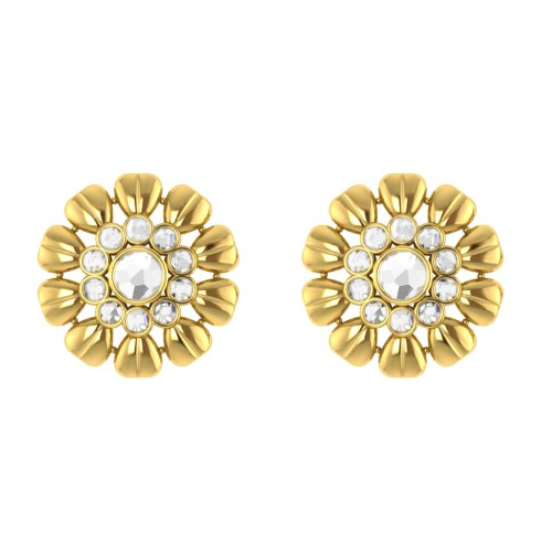 Padmabhasa Kundan Gold Earrings