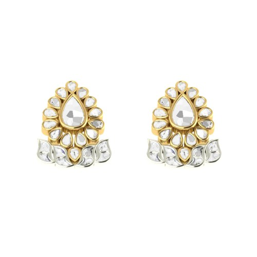 Padmabhu Kundan Gold Earrings