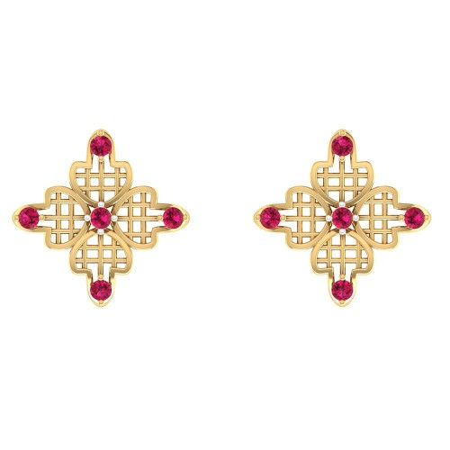Padmagarbha Stud Earrings