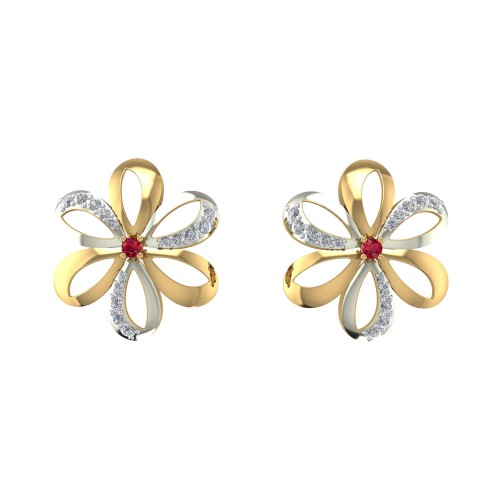 Padmahasan Diamond Earrings